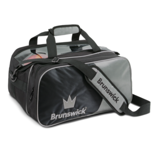 Bowlingtas Brunswick Tournament Double Tote With Pouch Silver