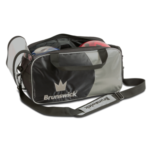 Bowlingtas Brunswick Tournament Double Tote Silver