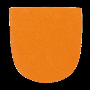 Schoenzolen Brunswick (Slide 7) Leather Heel Orange