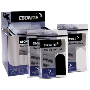 """Tape Ebonite Ultra Grip Tape 1/2"""" Black (30 stuks)"""