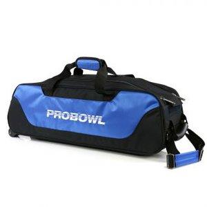 Bowlingtas Pro Bowl Basic Triple Tote Black-Blue