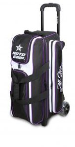 Bowlingtas Roto Grip 3-Ball Roller Black-White-Purple