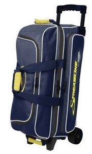 Bowlingtas Storm Rolling 3-Ball Streamline Navy-grey-yellow