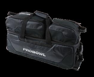 Bowlingtas Pro Bowl Triple Tote With Shoe Bag Black