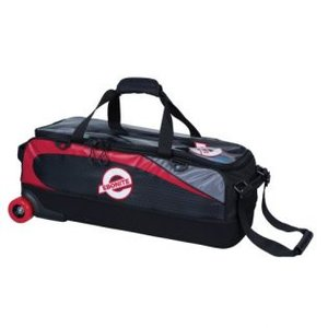 Bowlingtas Ebonite Players 3-ball tote (no shoes) black-red