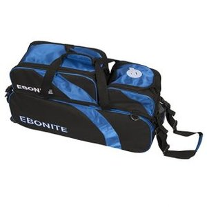 Bowlingtas Ebonite Equinox 3-ball Tote With Shoebag black-blue