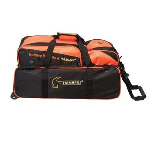 Bowlingtas Hammer Premium Triple Tote With Removable Pouch Black-Orange