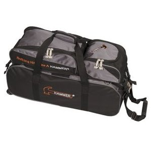 Bowlingtas Hammer Premium Triple Tote With Removable Pouch Black