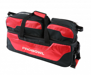 Bowlingtas Pro Bowl Triple Tote With Shoe Bag Black-Red