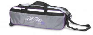 Bowlingtas Roto Grip 3-Ball Travel Tote White Purple