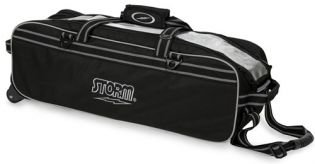 Bowlingtas Storm 3-Ball Tournament Travel Tote Black