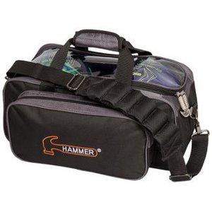 Bowlingtas Hammer Premium 2-Ball Tote Black-Carbon