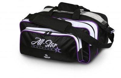 Bowlingtas Roto Grip 2-Ball Tote Plus Black White Purple